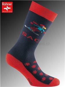 SAC Globi Ski calzini Rohner per bambini - 114 vulkan