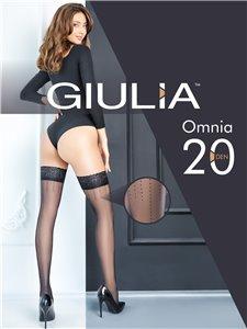 Omnia 20 - Calze stay-up con riga punteggiata