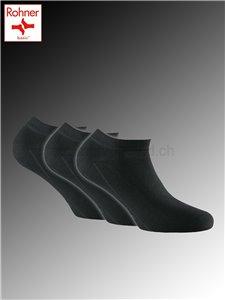 Sneaker Bamboo calzini corti Rohner - 009 nero