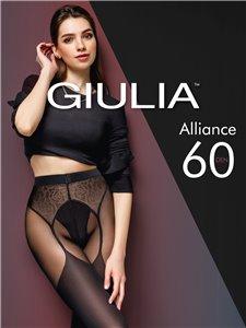 ALLIANCE - Collant Giulia in aspetto di calze da reggicalze