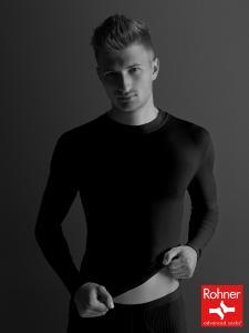 t-shirt manica lunga - nero